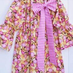 Girls peasant dress sewing pattern, Bodacious bow peasant dress pattern