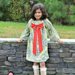 Girls peasant dress sewing pattern, Bodacious bow peasant dress pattern