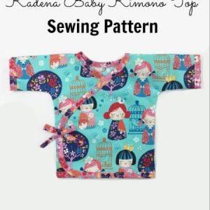 Baby kimono top sewing pattern