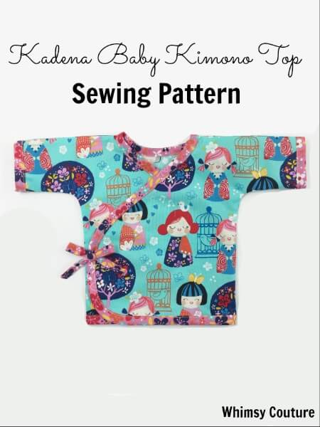 Kadena Baby Kimono Top Sewing Pattern - Whimsy Couture Sewing ...