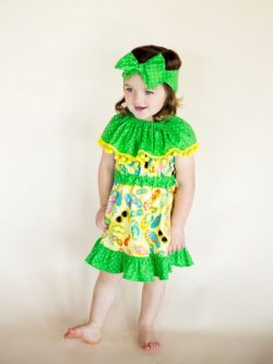 Girls ruffle dress sewing pattern. The Celebration Dress pattern by Whimsy Couture