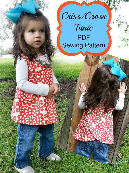Criss Cross Tunic sewing pattern by Whimsy Couture