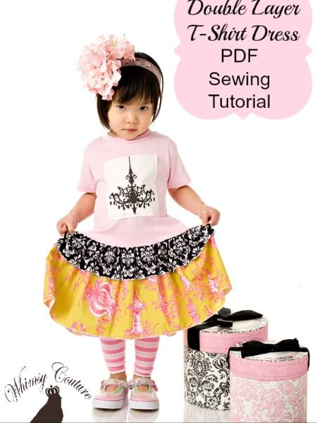Double layer t-shirt dress tutorial