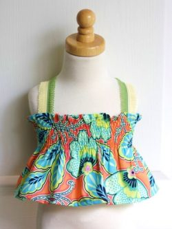 Easy Breezy shirred top and dress sewing pattern.