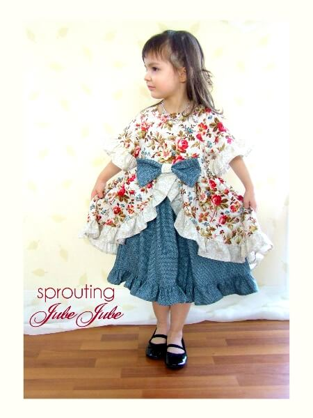 Girls peasant dress sewing pattern - The Enchanted Dress by Whimsy Couture