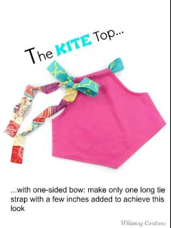 Kite top sewing pattern. Cute sleeveless top pattern for girls.