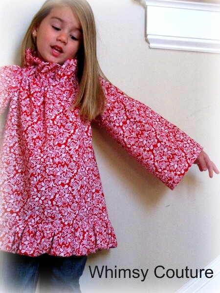 Puff ruffle peasant dress pattern for girls. Comes with top length and other options | Whimsy Couture