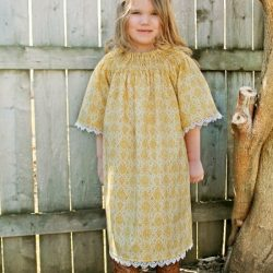 Heirloom Garden Dress Sewing Pattern. A faux bishop dress pattern by Whimsy Couture.
