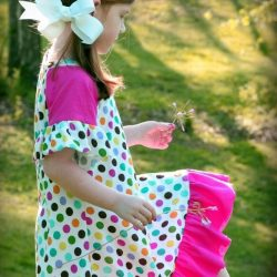 Knit tee dress for girls sewing pattern | Whimsy Couture