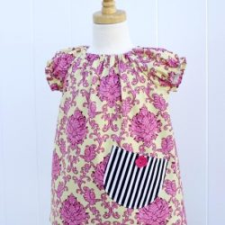 Girls peasant dress pattern. It is a simple dress with top length option and pockets   Whimsy Couture