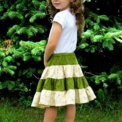 4-tiered skirt sewing pattern for girls and ladies
