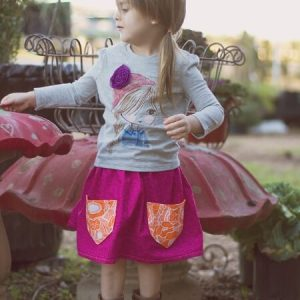 Beginner's skirt sewing pattern by Whimsy Couture