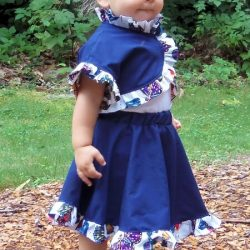 Circle skirt sewing pattern by Whimsy Couture