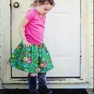 Elastic banded skirt sewing pattern by Whimsy Couture