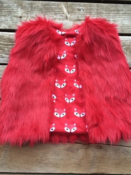 Girls Fur Vest Pattern