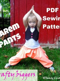 Harem pants sewing pattern by Whimsy Couture