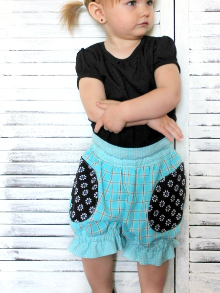 Puffer shorts sewing pattern by Whimsy Couture
