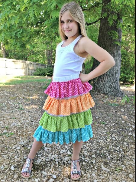 Ruffled Up skirt sewing pattern by Whimsy Couture