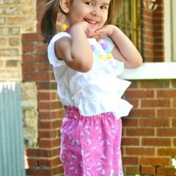 Scalloped shorts sewing pattern by Whimsy Couture