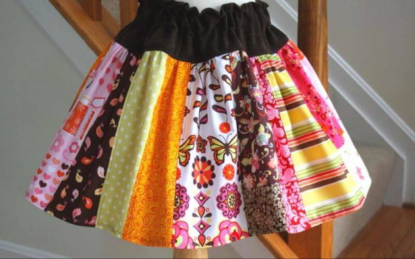 Scrappy twirl skirt sewing pattern by Whimsy Couture