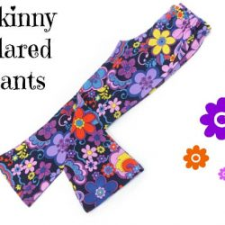 Skinny flared pants sewing pattern by Whimsy Couture