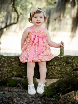 Strappy top and dress pattern for girls. Whimsy Couture
