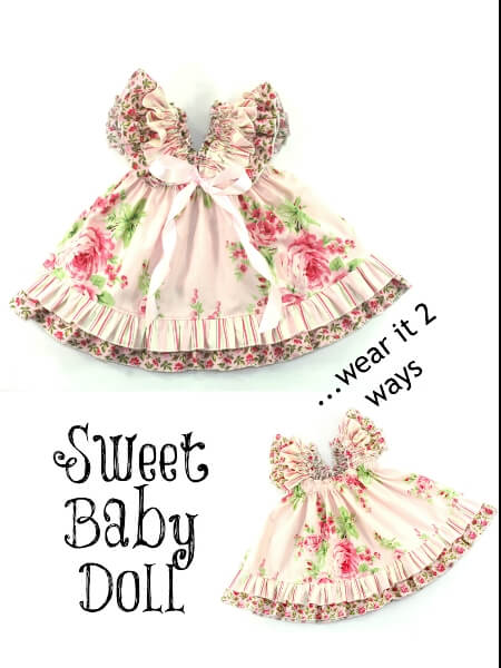 79a0ca550f32 Sweet Baby Doll Dress Sewing Pattern - Whimsy Couture Sewing ...