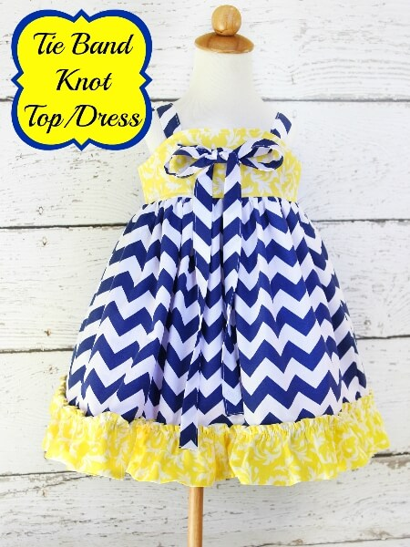 Tie band knot dress sewing pattern by Whimsy Couture