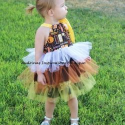 Tulle ruffle dress sewing pattern by Whimsy Couture