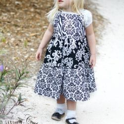 Twirl knot dress sewing pattern by Whimsy Couture