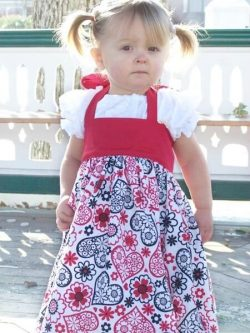 Vintage Pinafore Over Dress Sewing Pattern Whimsy Couture