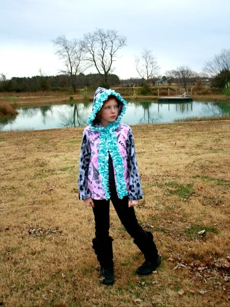 Fleece Hoodie Jacket sewing pattern by Whimsy Couture