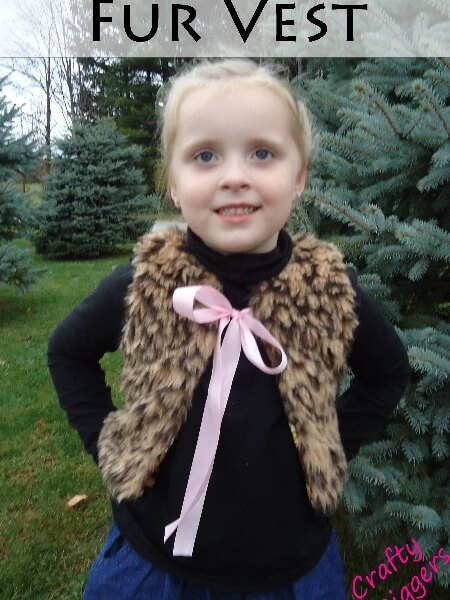 Fur vest sewing pattern by Whimsy Couture