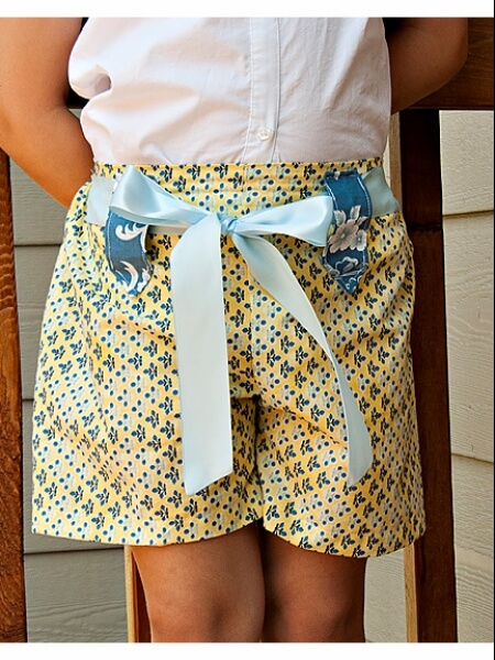 Girls Shorts Sewing Pattern - Whimsy Couture Sewing Patterns Products