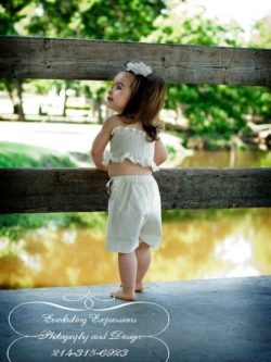 Girls ruffle shorts sewing pattern by Whimsy Couture