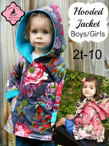 Hooded Boys/Girls Jacket Pattern