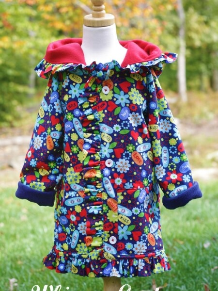 Hooded Jacket sewing pattern for boys and girls. Whimsy Couture