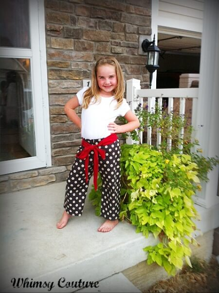 Jump around pants sewing pattern by Whimsy Couture