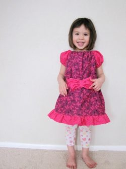 Ruffle peasant dress sewing pattern by Whimsy Couture