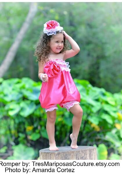 Lacy ruffle petti romper sewing pattern by Whimsy Couture