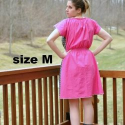 Ladies boho dress sewing pattern by Whimsy Couture