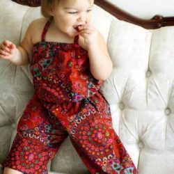Retro romper sewing pattern by Whimsy Couture