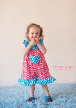 Ruffled Neckline Romper Sewing Pattern Whimsy Couture (2)