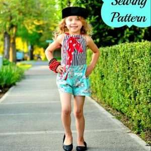 Sunsuit sewing pattern by Whimsy Couture