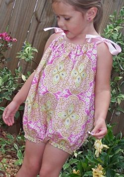 Baby bubble romper pattern by Whimsy Couture