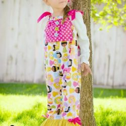 Bib romper sewing pattern by Whimsy Couture