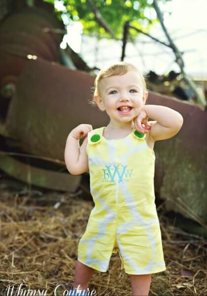 Boys girls overalls sewing pattern by Whimsy Couture