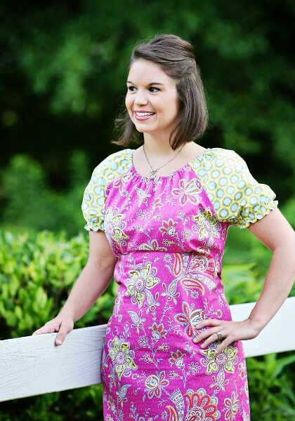 Ladies peasant top and dress sewing pattern by Whimsy Couture