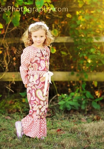 Peasant romper sewing pattern by Whimsy Couture