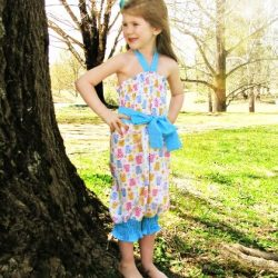 Shirr sweetness romper sewing pattern by Whimsy Couture